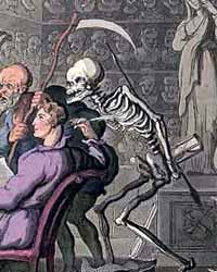 A 19th century image of the reaper