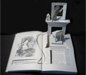 Su Blackwell's Book-cut Sculptures (Alice: Through the Looking Glass)