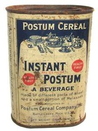 I could only find a photo of Instant Postum (from 1911)