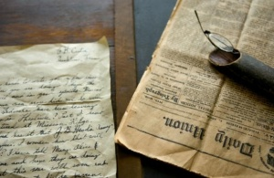 A letter from the Civil War, located at The Carter House in Franklin, TN.