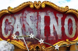 A forgotten casino sign.