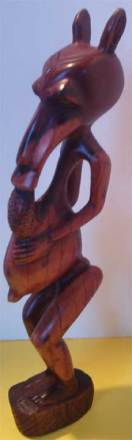 A carving of a Tokoloshe.