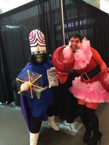 Mojo Jo Jo and Him from the PowerPuff Girls.