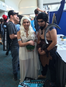 There were plenty of Game of Thrones cosplay going on.