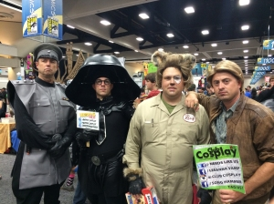A full cosplay cast of SpaceBalls was also in attendance.